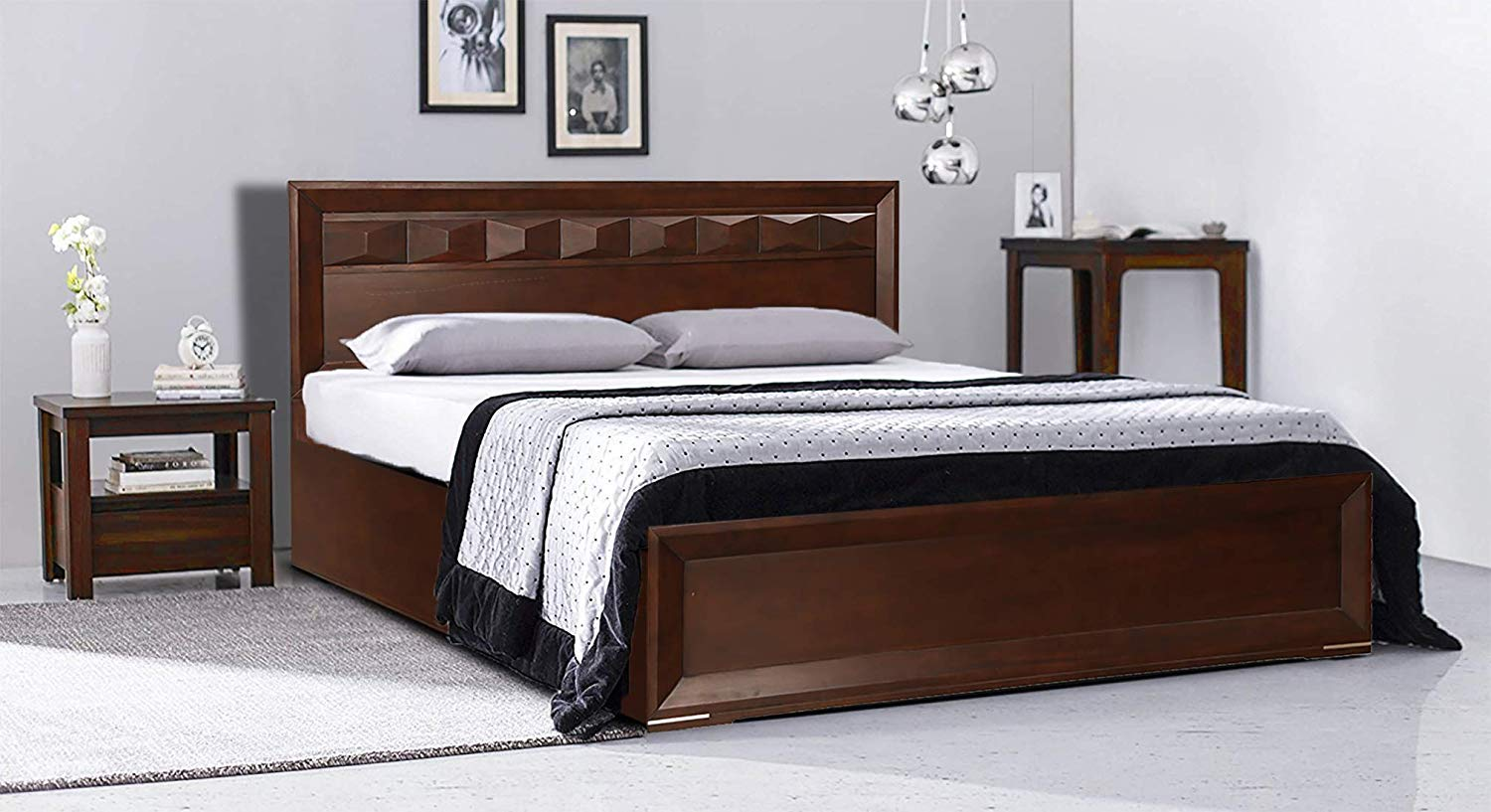 Bolmiz King Size Bed for Bedroom Wood Furniture, king size bed of wood