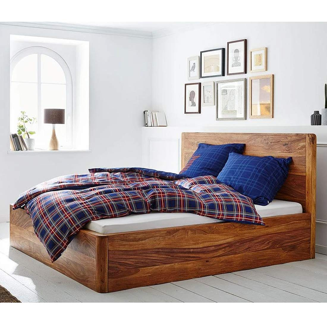 Bonzin Queen Size Bed with Storage Teak from Ghana  20+ Years Life Teak Polish Termite & Bore Treated