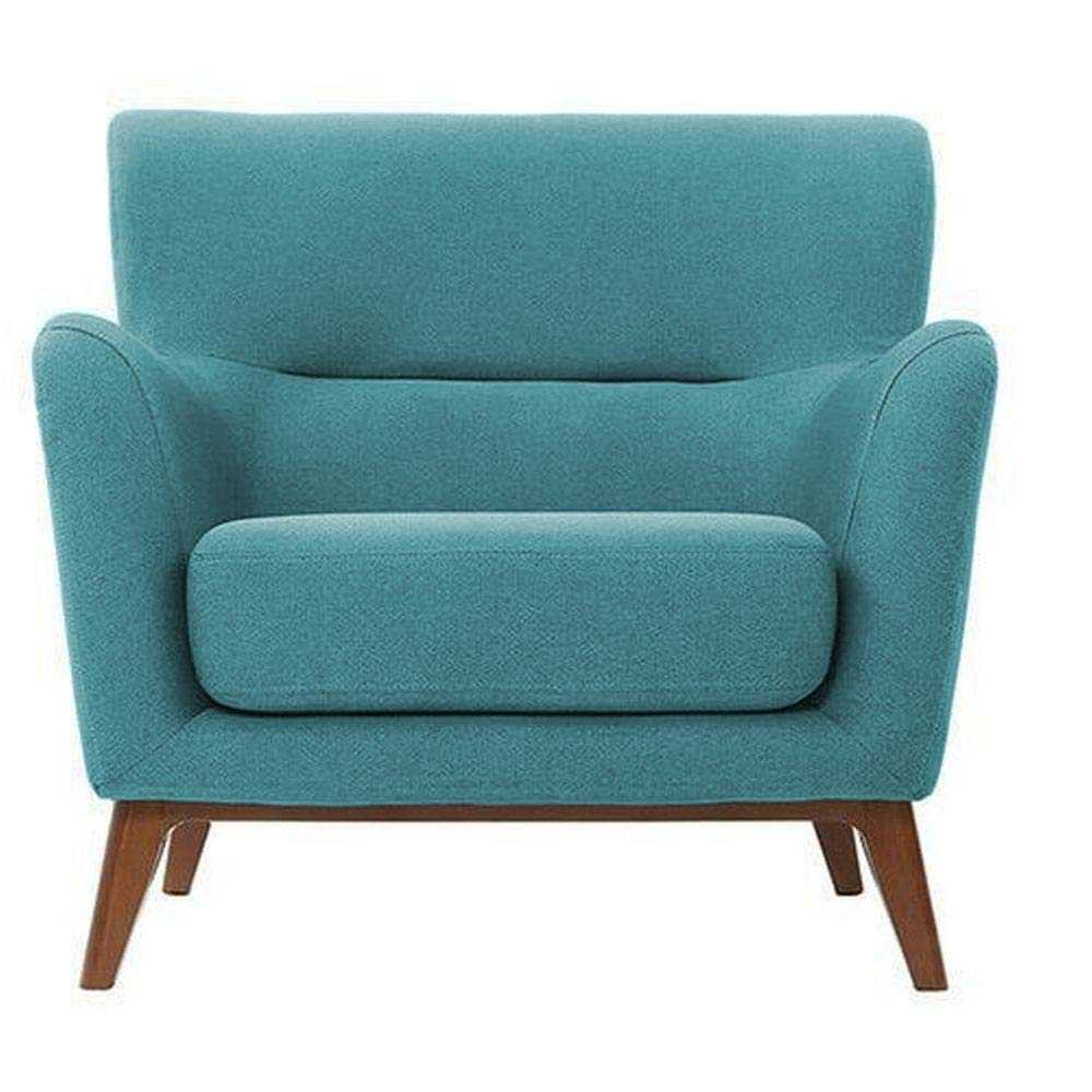 Thepla single seater sofa design  for Living Room ( Sky Blue)