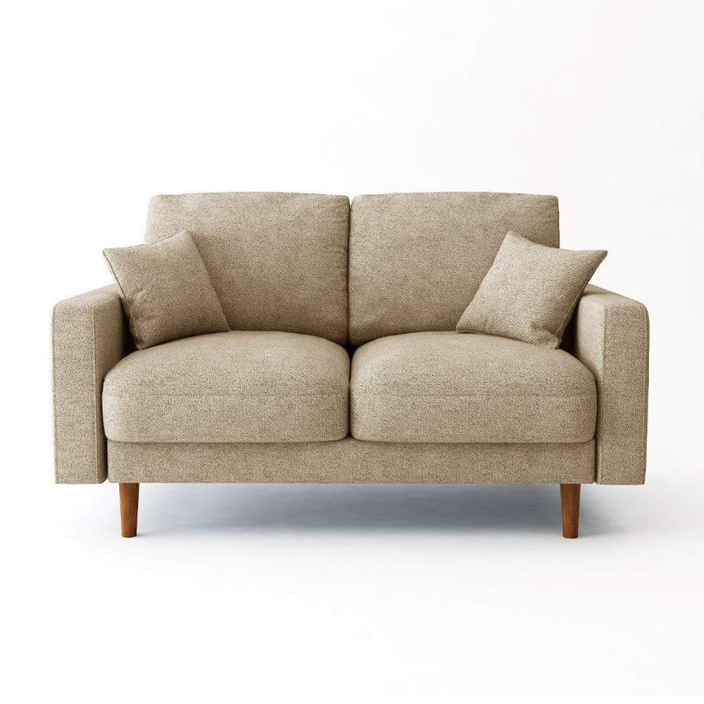 Notsi 2 seater sofa set 2 Seater Fabric Sofa - Beige