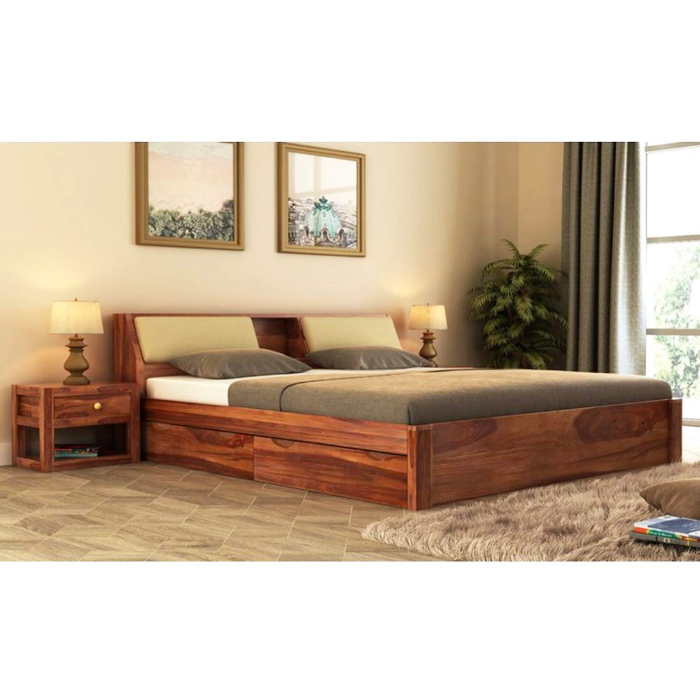 Molin Queen size Bed for Living Room (Stone Finish)