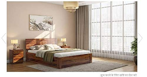 Sheesham Wood Storage Bed for Bedroom King Size Bed  Deewan Bed  Double Bed Big Bed  78 * 72 Inch