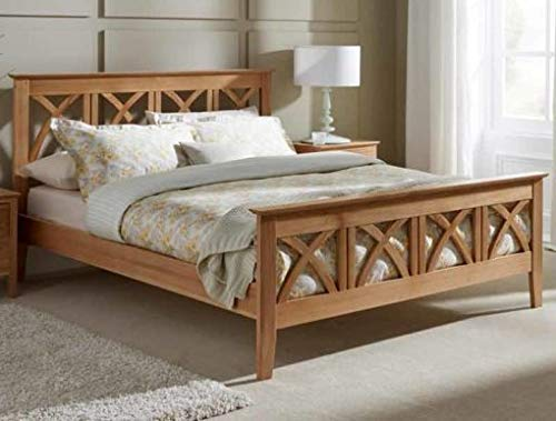 Zalmob Wooden Design Bed in Pure Sheesham Wood Without Box