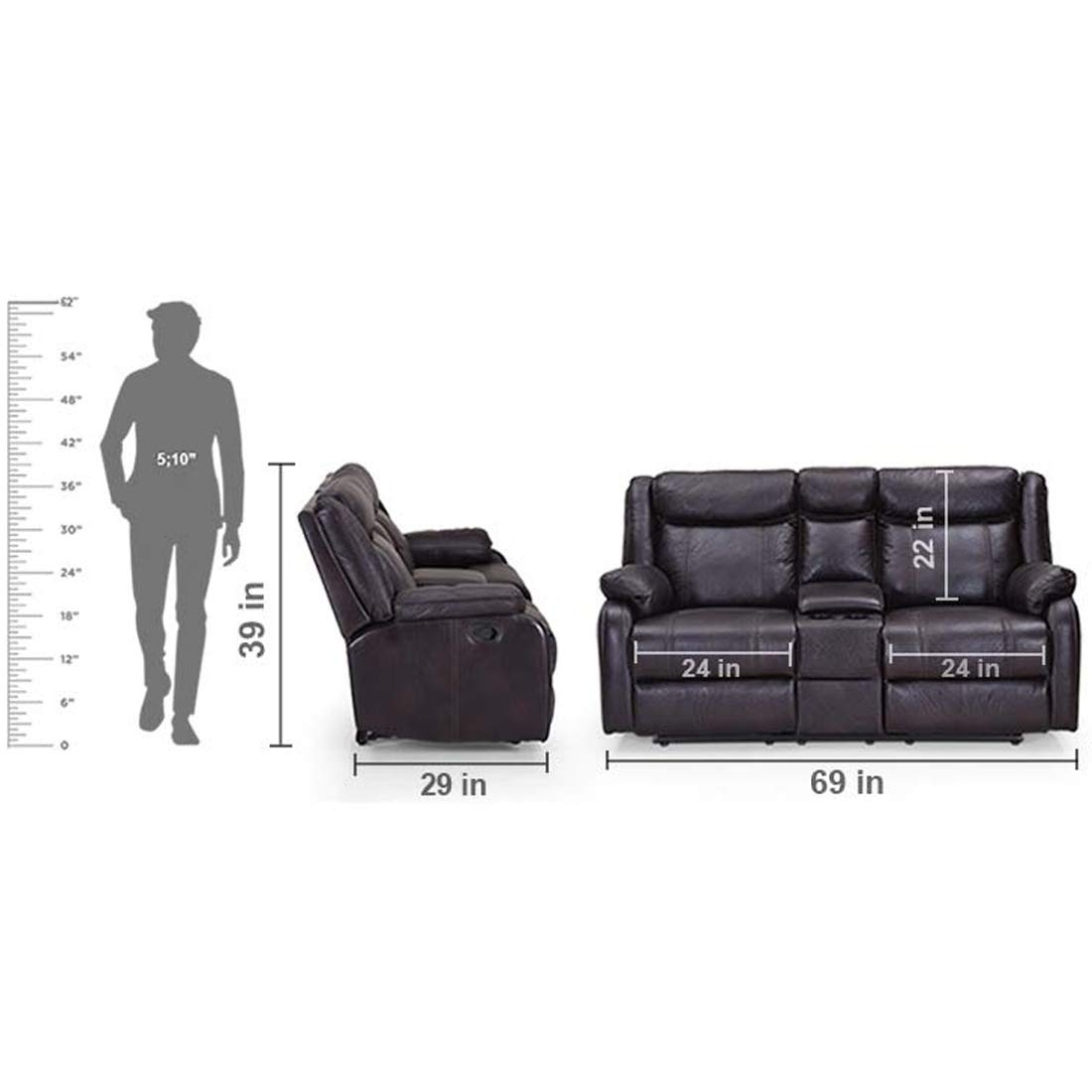Relrom 2 seater sofa buy online Reclining Experience