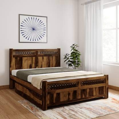 Candin king size bed Drawer Bed (Finish Color - Provincial Teak)