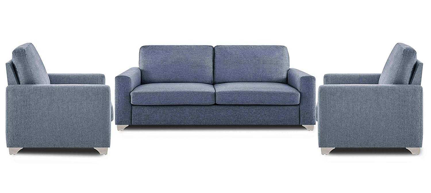 Colola straight line 3+1+1 seater sofa set(grey)