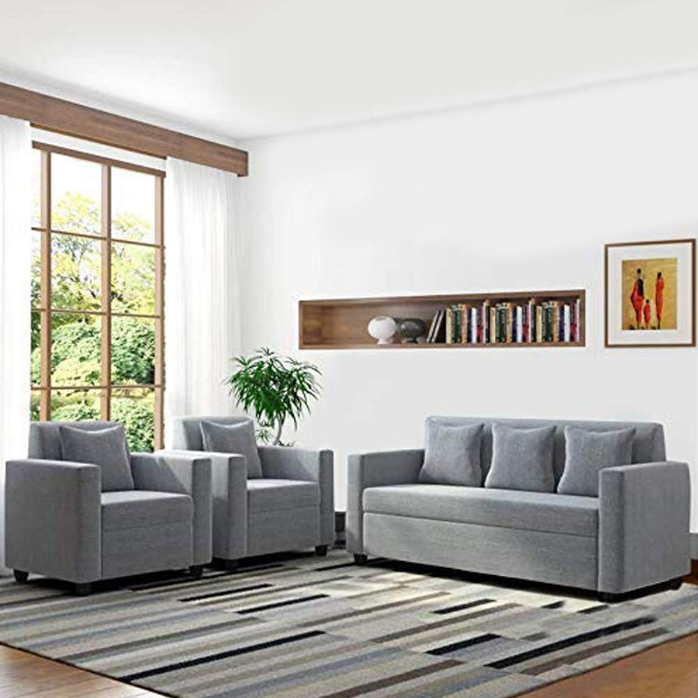 Closa Fabric 3 + 1 + 1 Sofa Set (Grey)