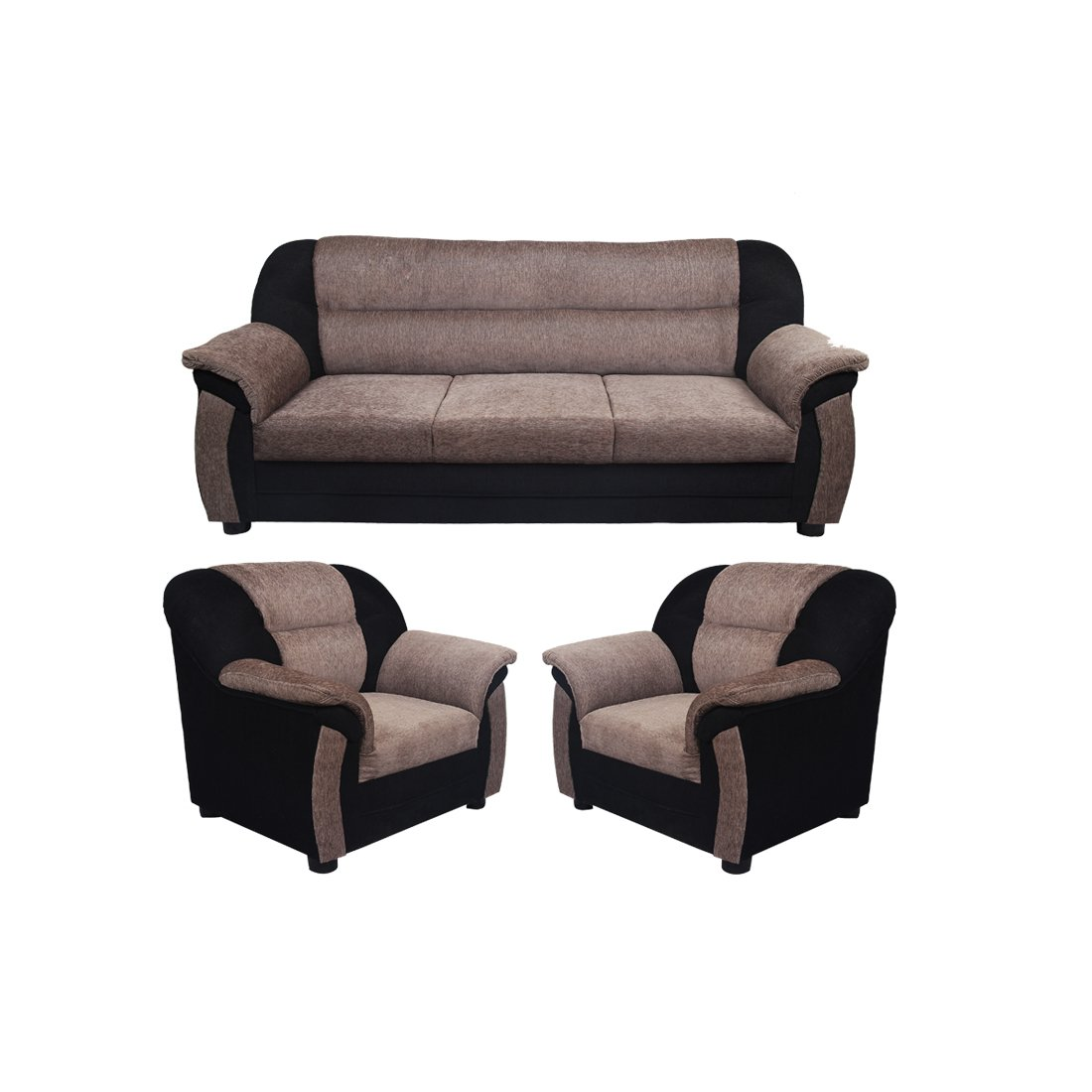 Bellia Fabric Sofa Set, 3+1+1(Grey)
