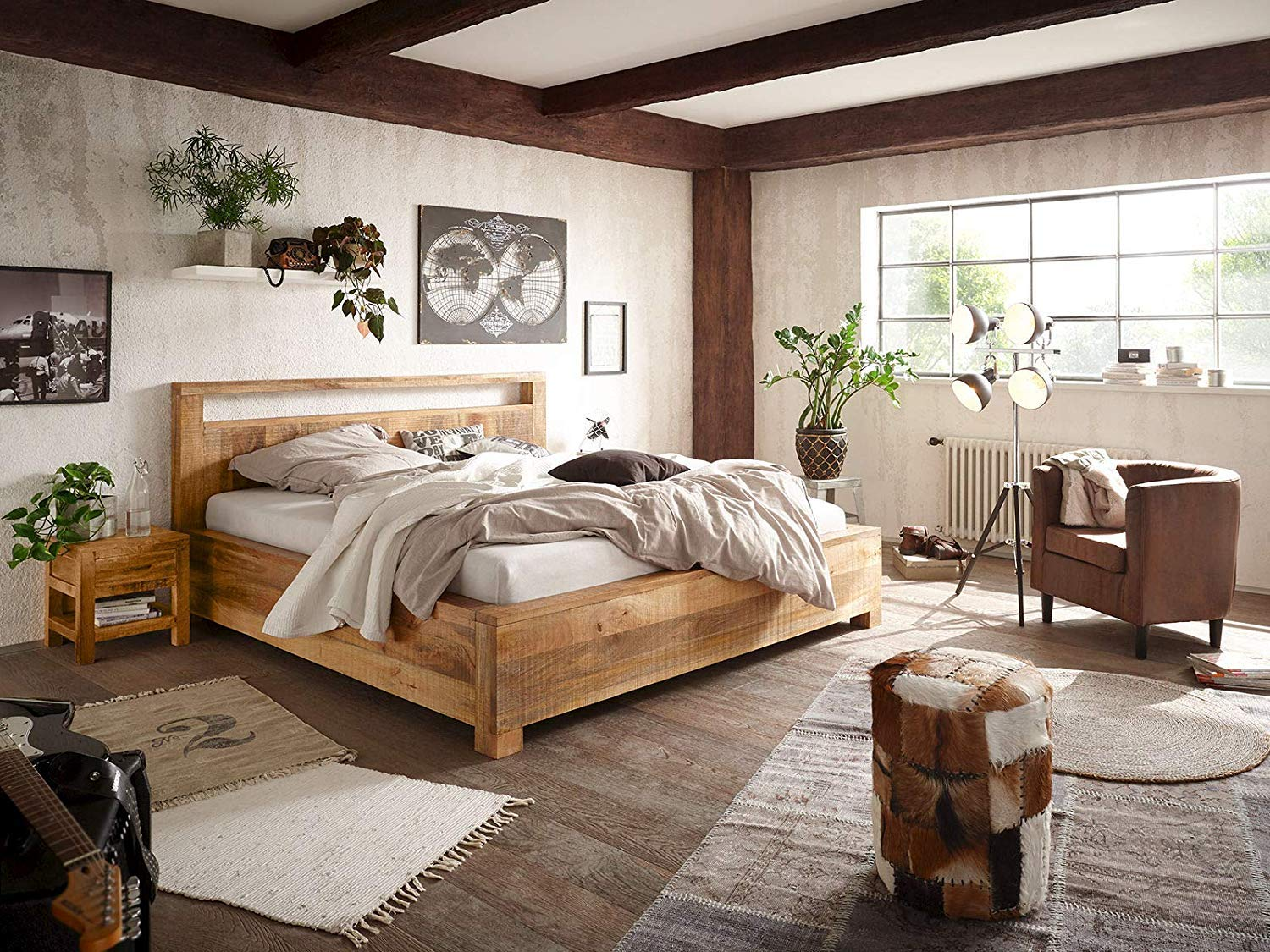 """Wooden King Size Bed for Bedroom 