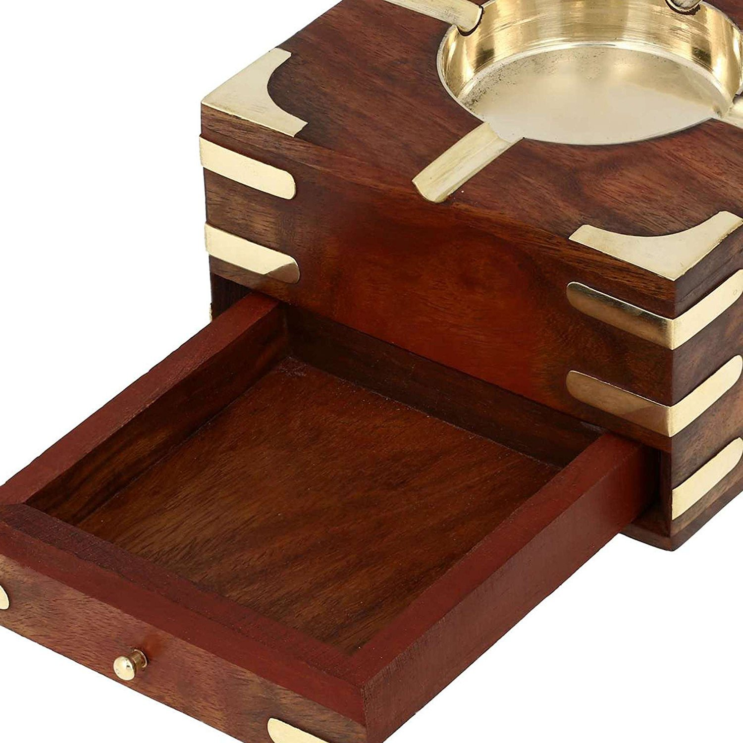 Tusejo Ashtray with Cigarette Storage Case Box Drawer
