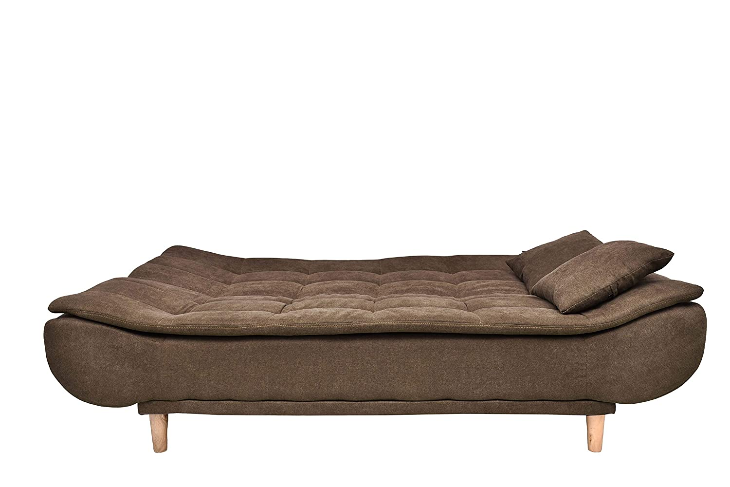 Three Seater Sofa Cum Bed-Brown