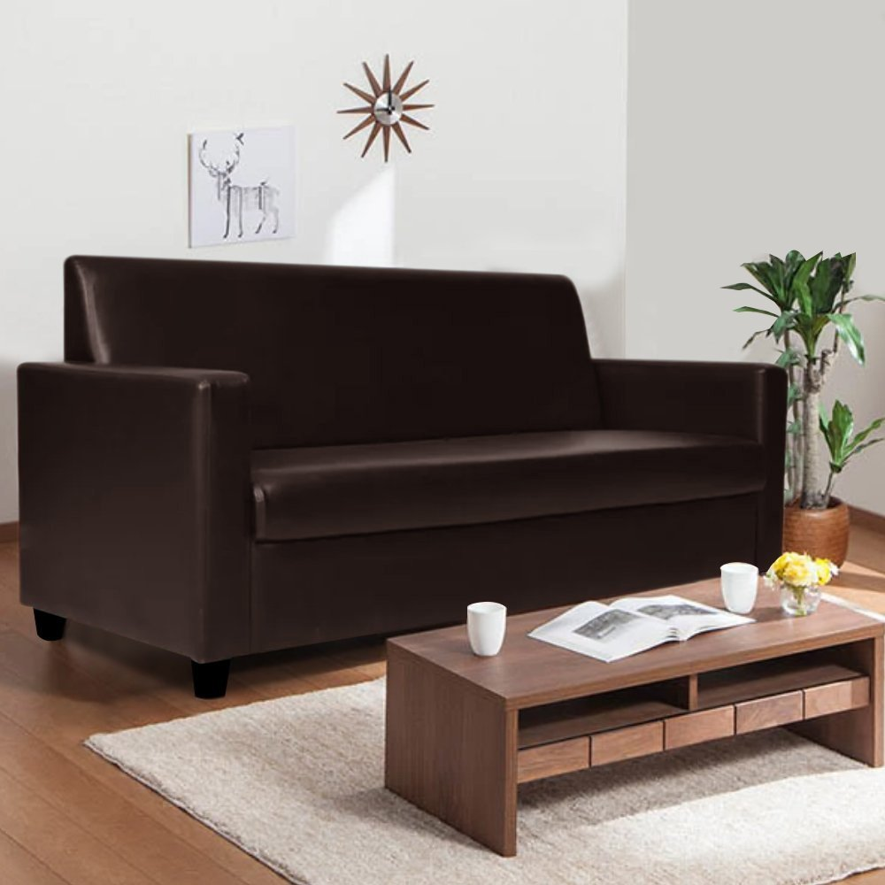 Mahph 3 Seater Leatherette Sofa