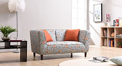 Miako Two Seater Loveseat (Vintage Floral Teal)