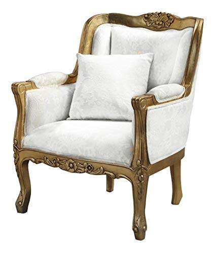 Bachma Royal Look Chair with Armrest Single Seater Sofa Chair for Home Decor