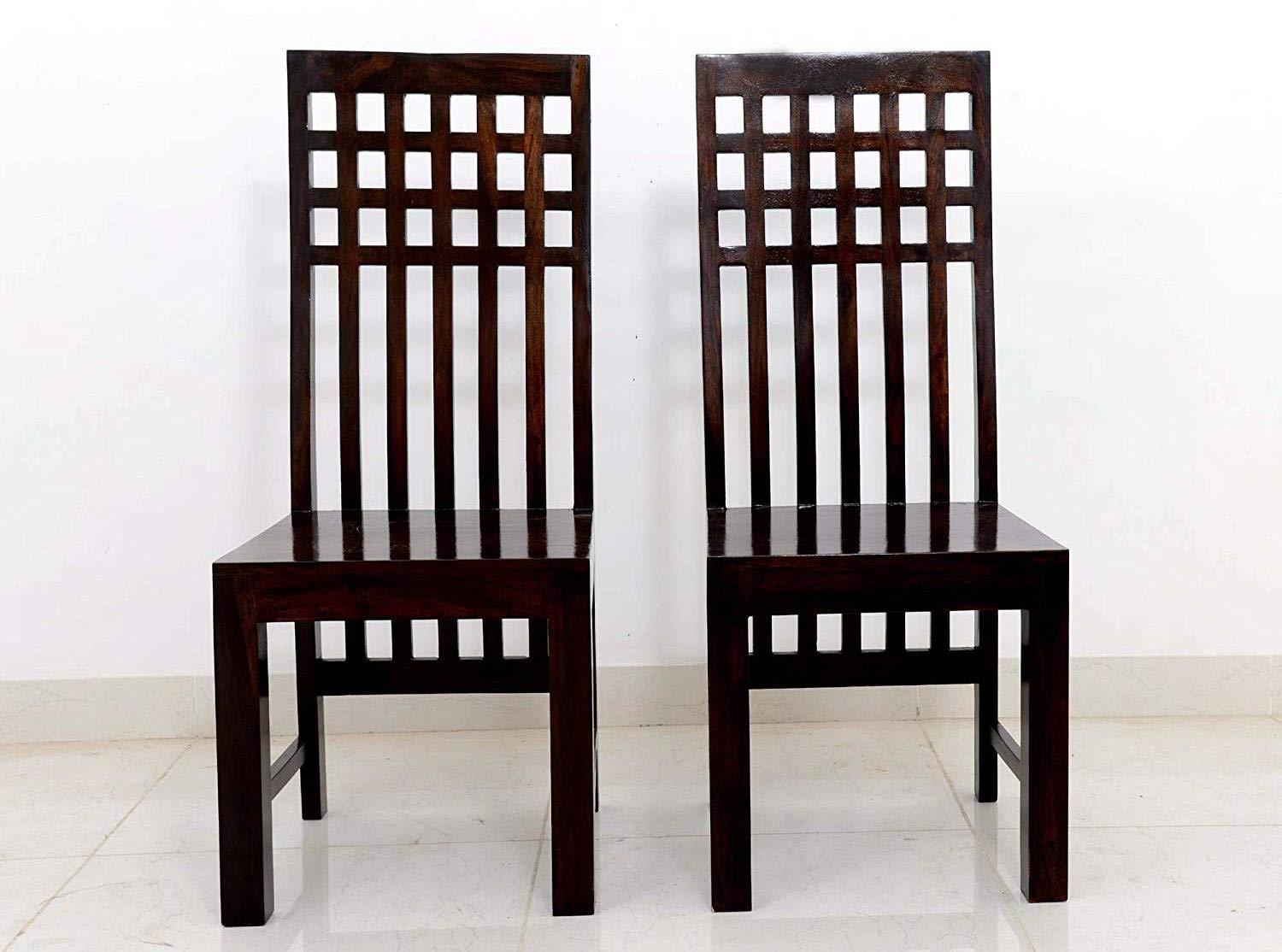 Uozmin Wooden Study Chair for Wooden study Chair Set of 2