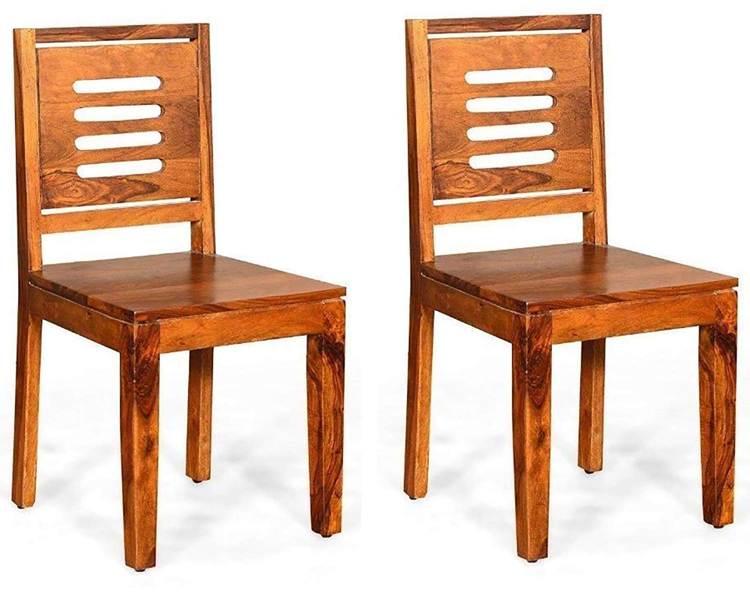 Bushzis Wooden Study Dining Chair Set of 2 for Home
