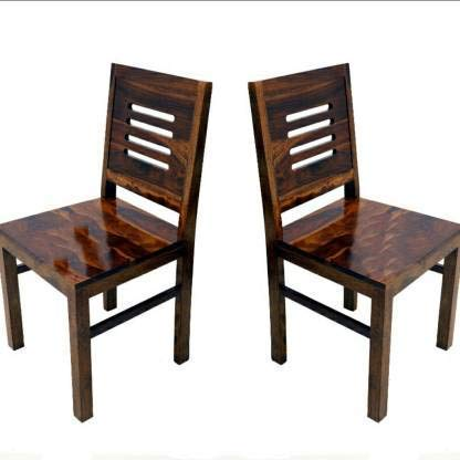 Goskan Wooden Study Chair Set of 2  (Walnut Finish)