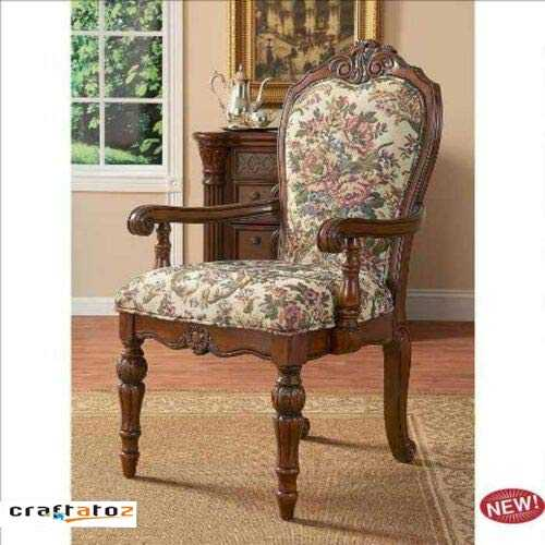 Nosfoj Style Furniture Queen sberry Showcase Hardwood Arm Chair