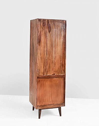 Motiky Tower Bar Cabinets for Home Wine Storage Rack (Provincial Teak)