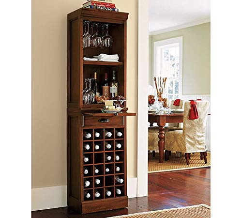 Tontny Bar Cabinet Wine Rack with Glass Storage for Living Room