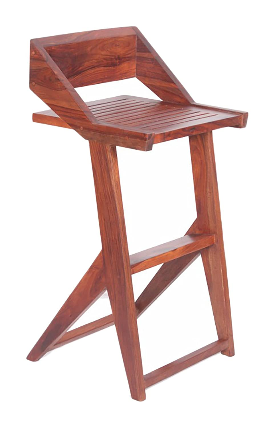 Zolim Wooden Bar Chair , bar chair designer , vintage bar chair (Brown)