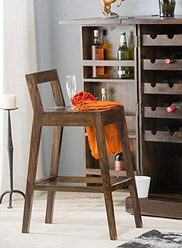 Zomnos Bar Chair for Living Room Furniture Walnut Finish