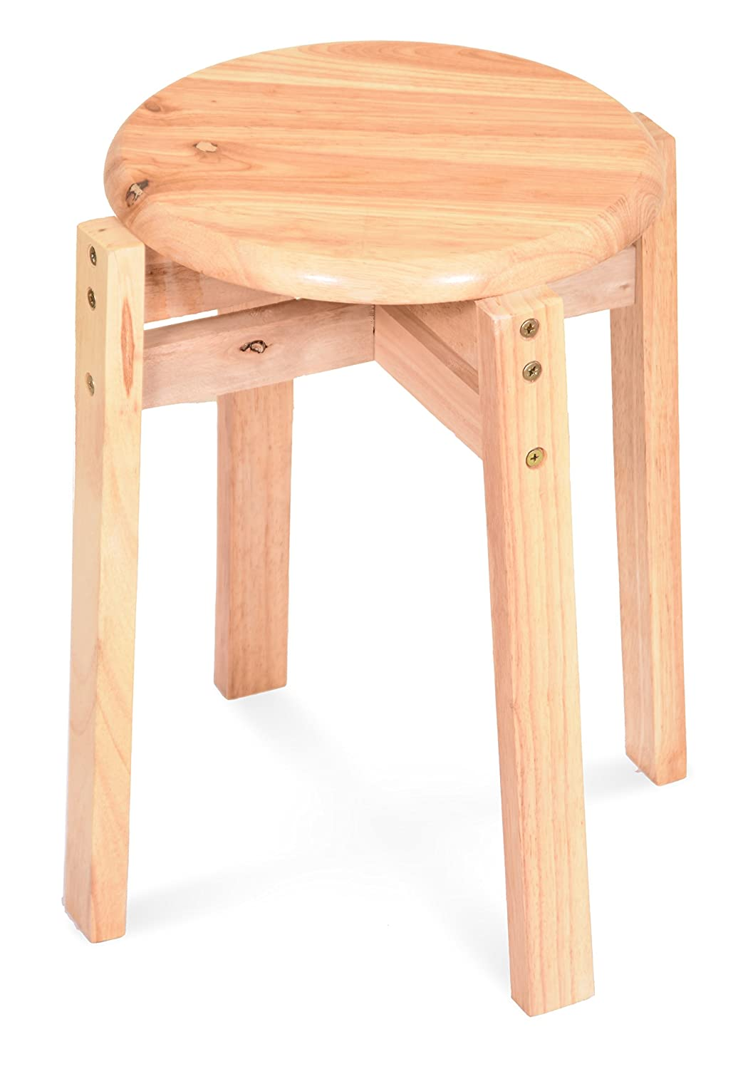 Somin Wood Square Leg Bar stool with Natural Finish for Adults and Childrens