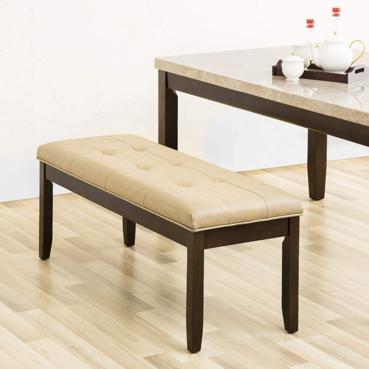 Toric Dining Bench (Finish : Dark Walnut)122x45x50 cm