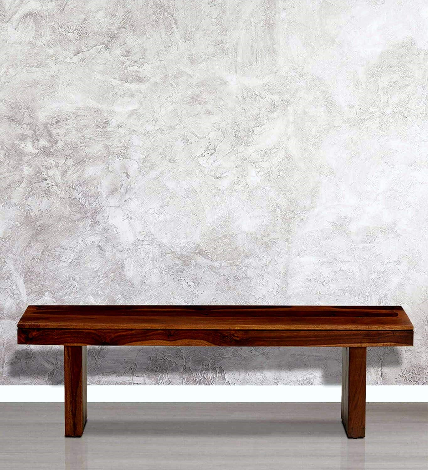 Mizati  Dining Bench (Finish : Dark Walnut)63x16x17 inch