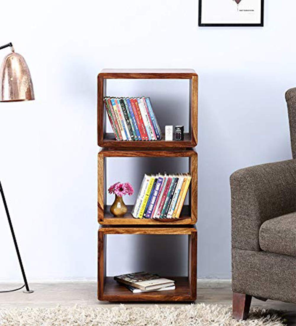 Basaku Storage Book Shelves and Display Rack Shelf for Home Living Room
