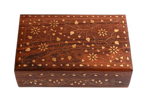 Sheesham wood  Wooden Jewellery Box for Women Jewel Organizer Flower Décor?
