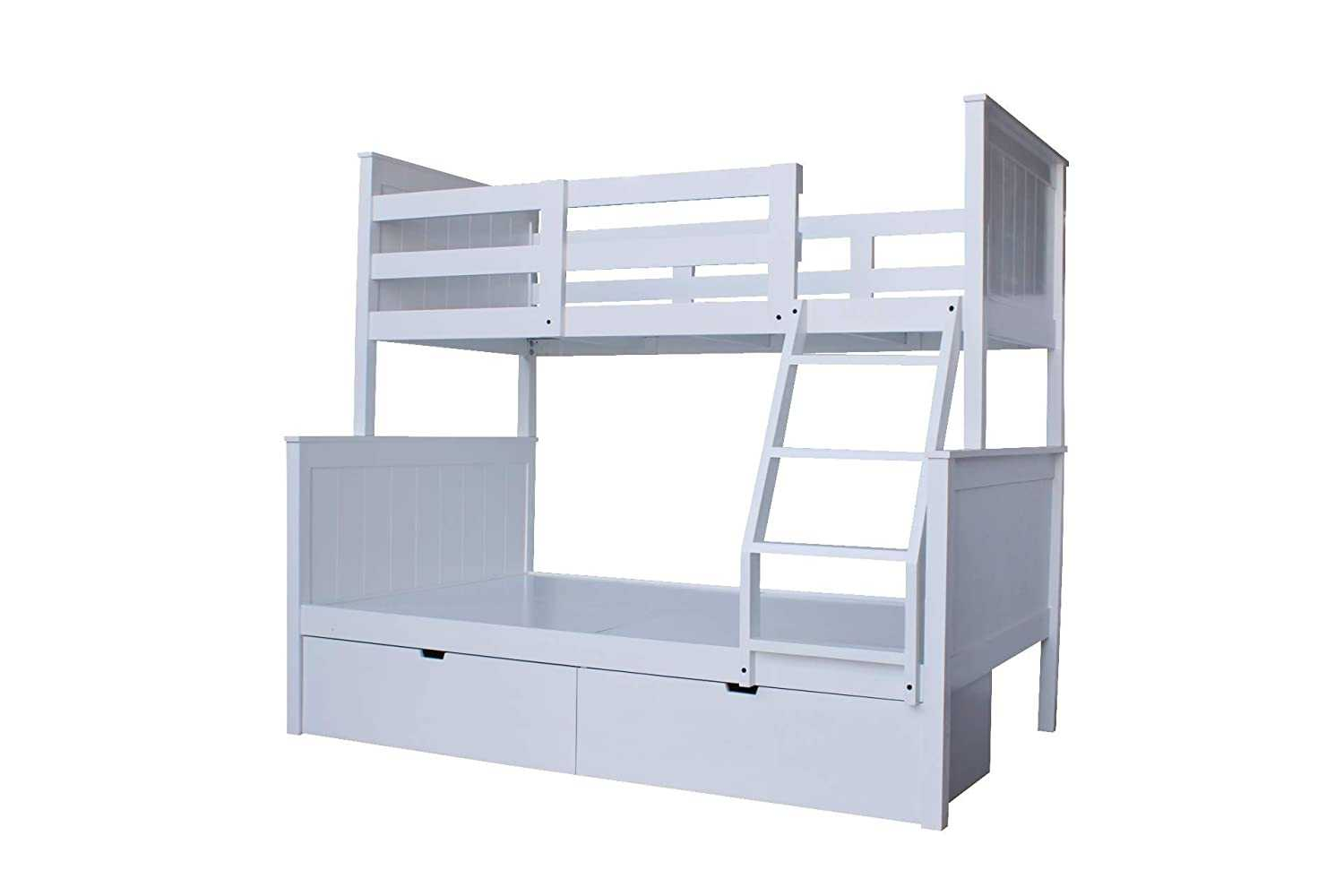 Kibube Adult bunk bed design  with 2 Drawers for Storage (grey Finish)