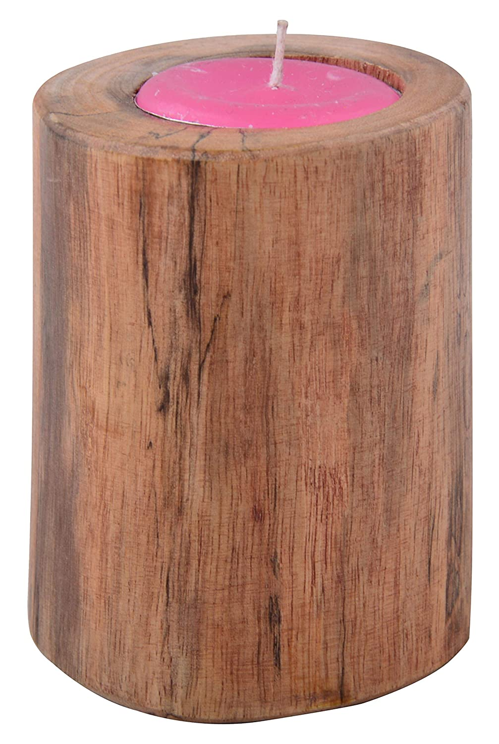 Bhubna Wooden Candle Holder