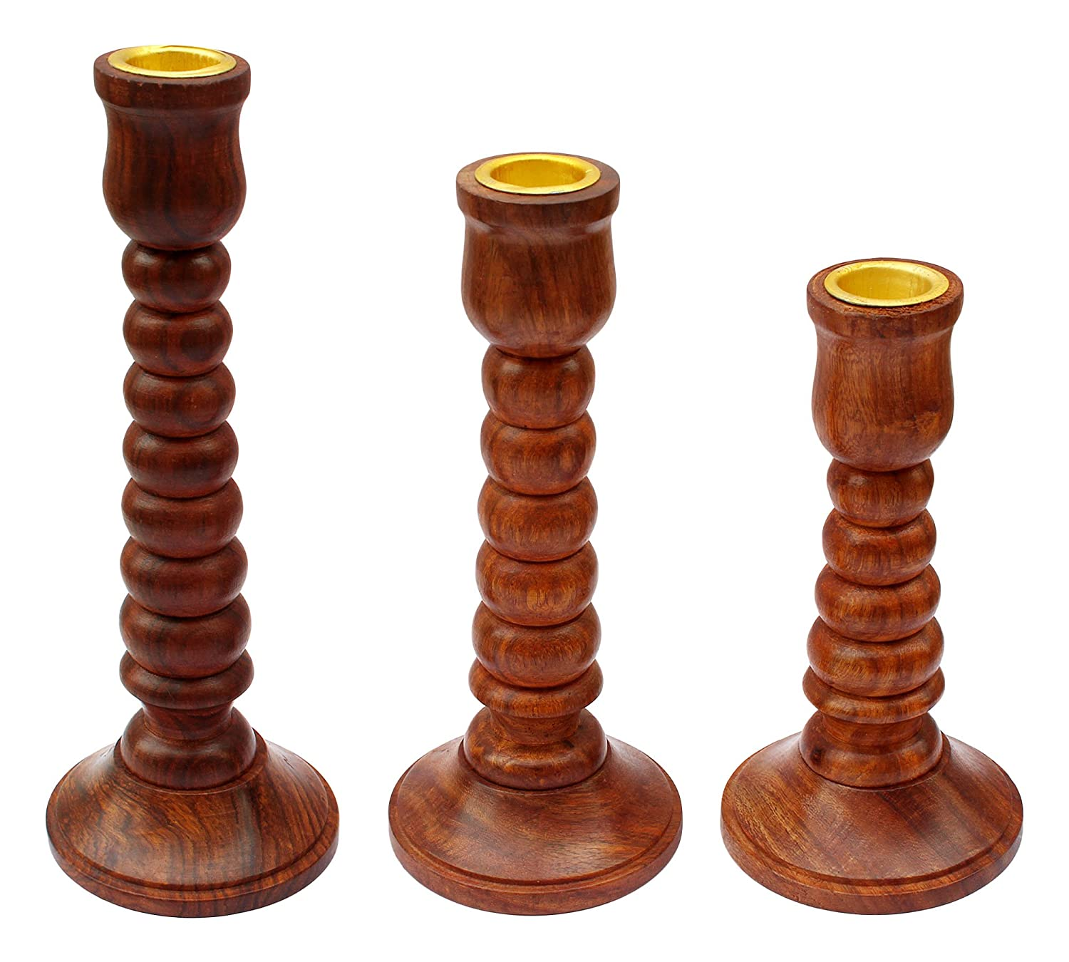 Kaesf Sheesham wood  Candle Holder Stand for Home Décor