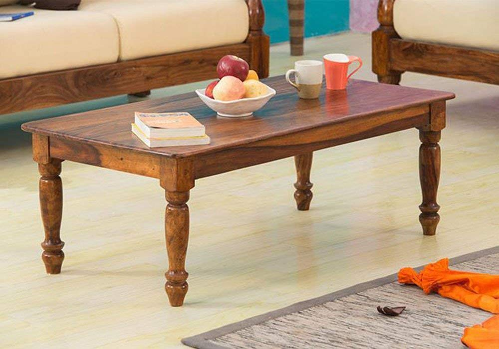 Karik Maharaja Center Coffee Table for Living Room Honey Finish