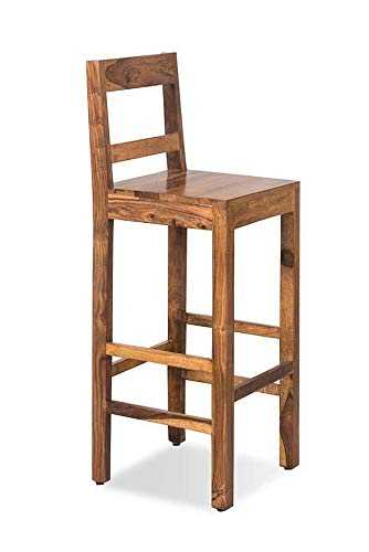 sutine sheesham Wood bar Chair (Brown)