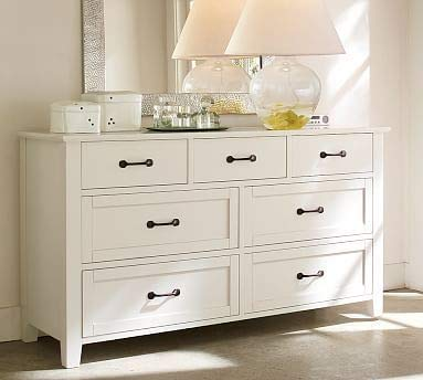 Mizkan Wooden Chest of Drawers in White Color for Living Room