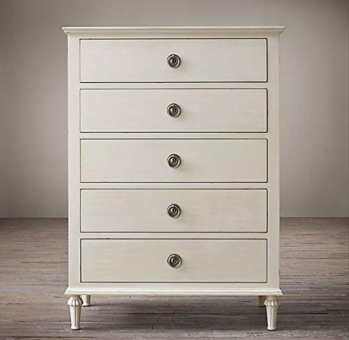 Dozmia Wooden Chest of Drawers in Antique White Color for Living Room