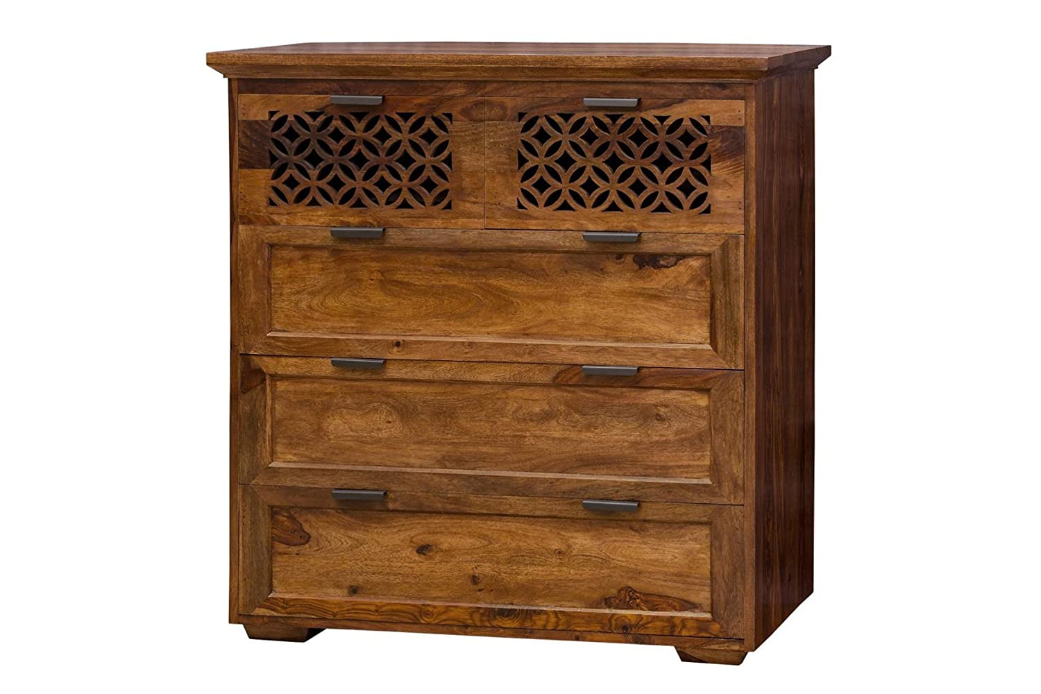 Rolkdy Drawer Chest  for Home chest drawers for storage,(Lacquered, Honey)