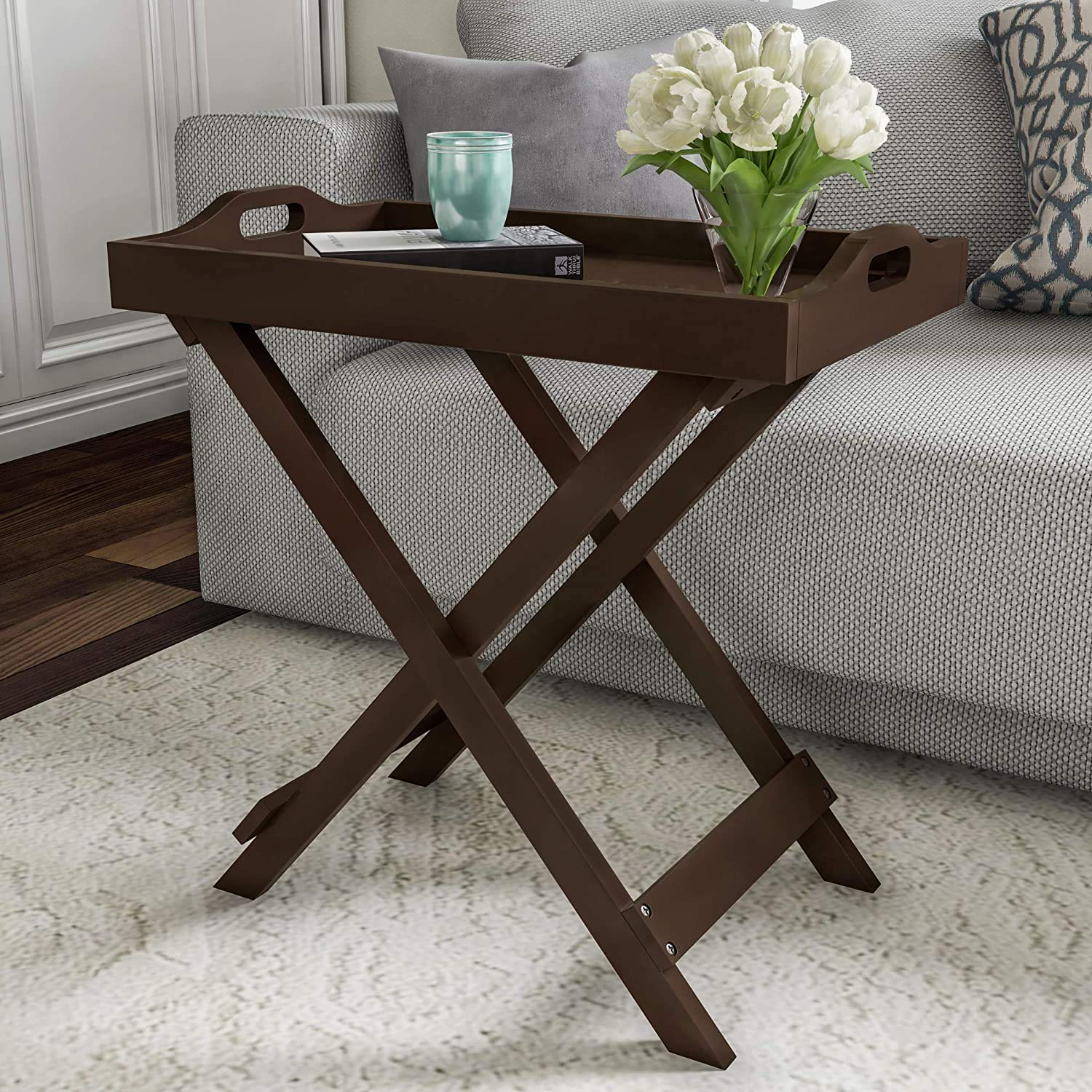 craft a to z Home Decorative Display and Accent Table Center Table Wooden (Brown)