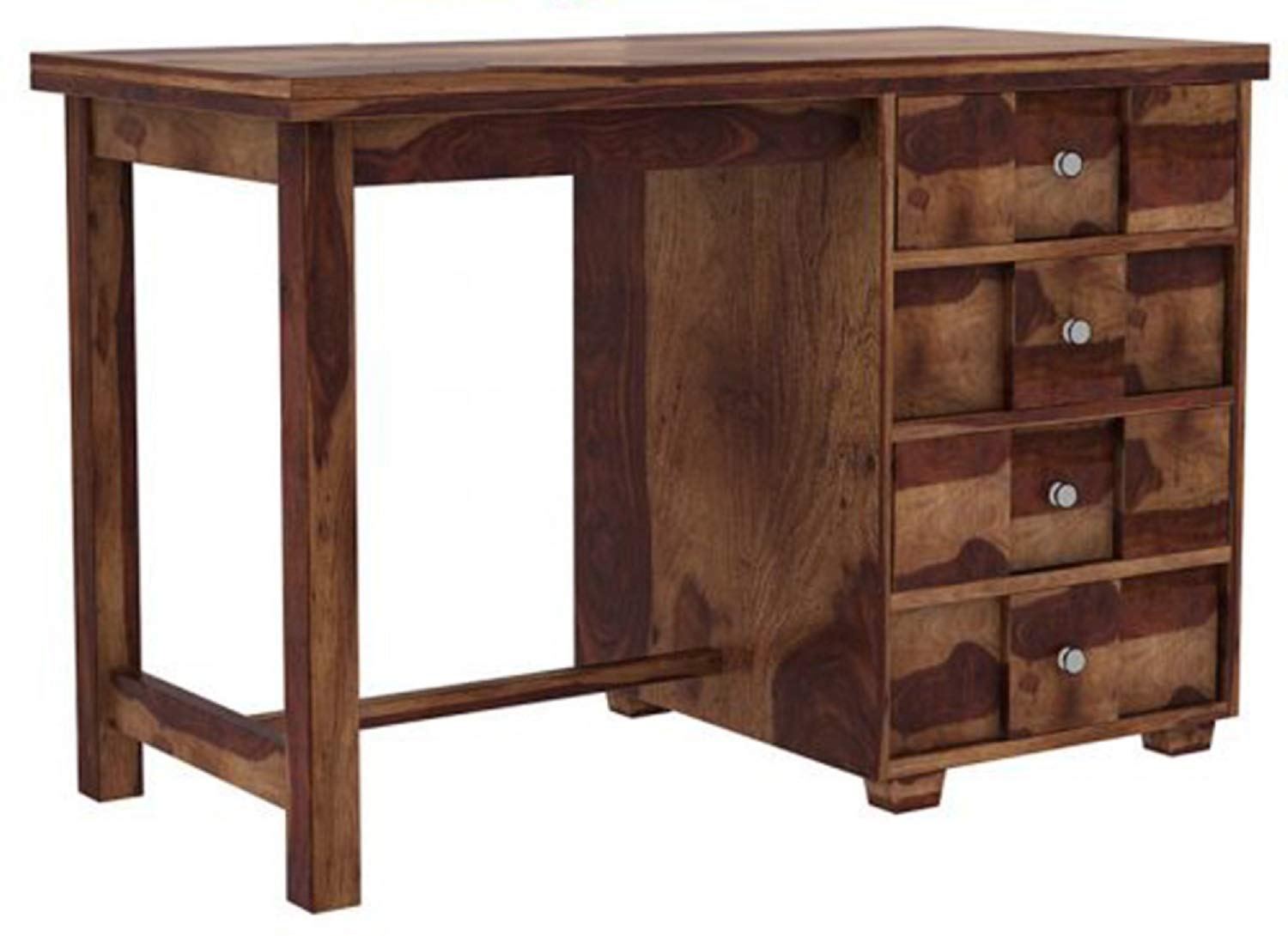Sheesham Wood Writing Study Desk Computer Table for Home and Office with Drawers (Teak Finish)