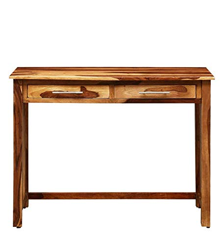 Kiloma Wooden Study and Writing Tables for Offices and Home with 2 Drawer Natural Brown