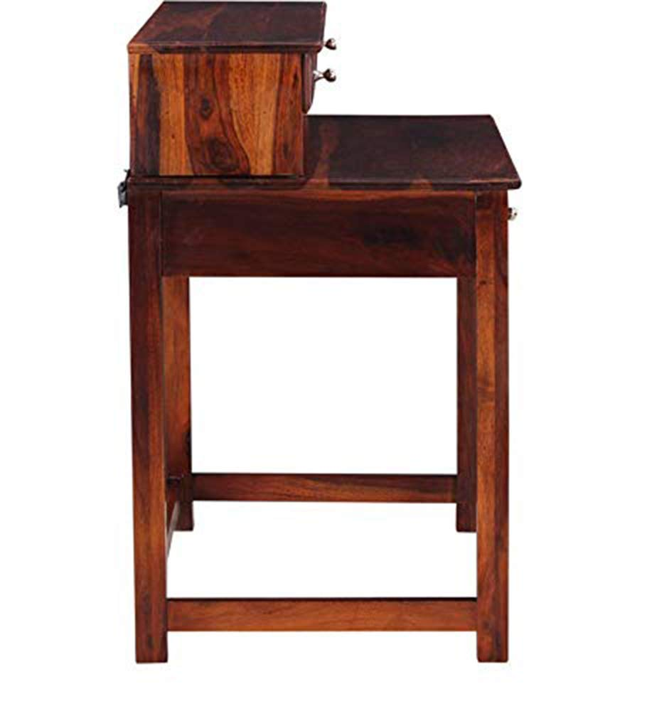 craft a to z Sheesham Wood Study and Laptop Table with Drawer Storage for Study Living Room (Honey Oak Finish)