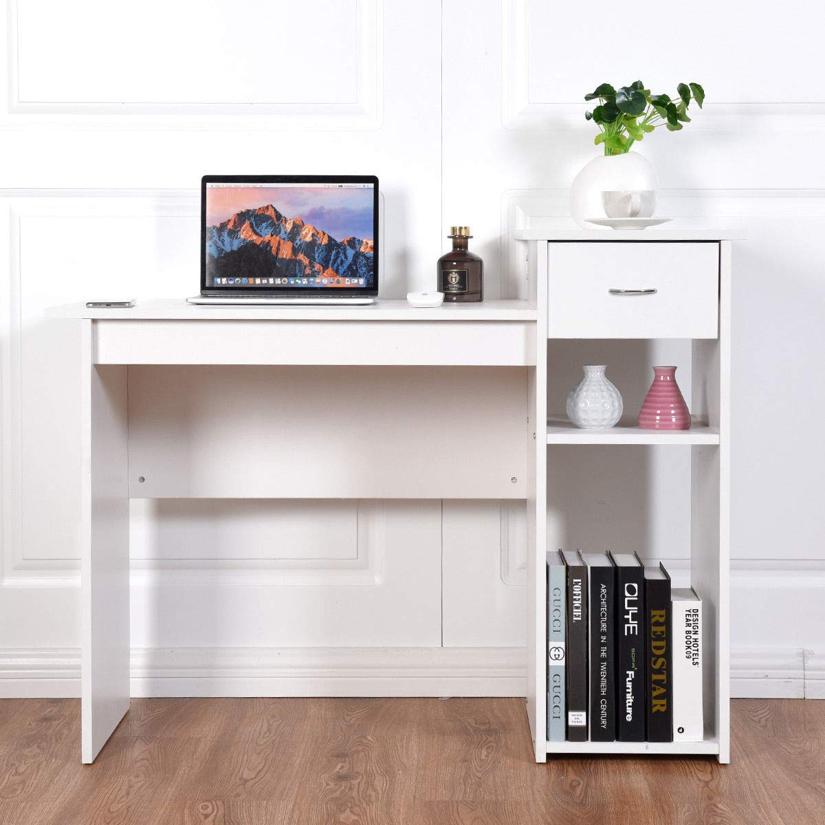 Gosaib study Desk & Workstation in White Color