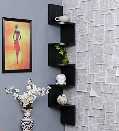 craft a to z  Corner Wall Shelfs Living Room Wall Shelves Book Shelf Wall Mount