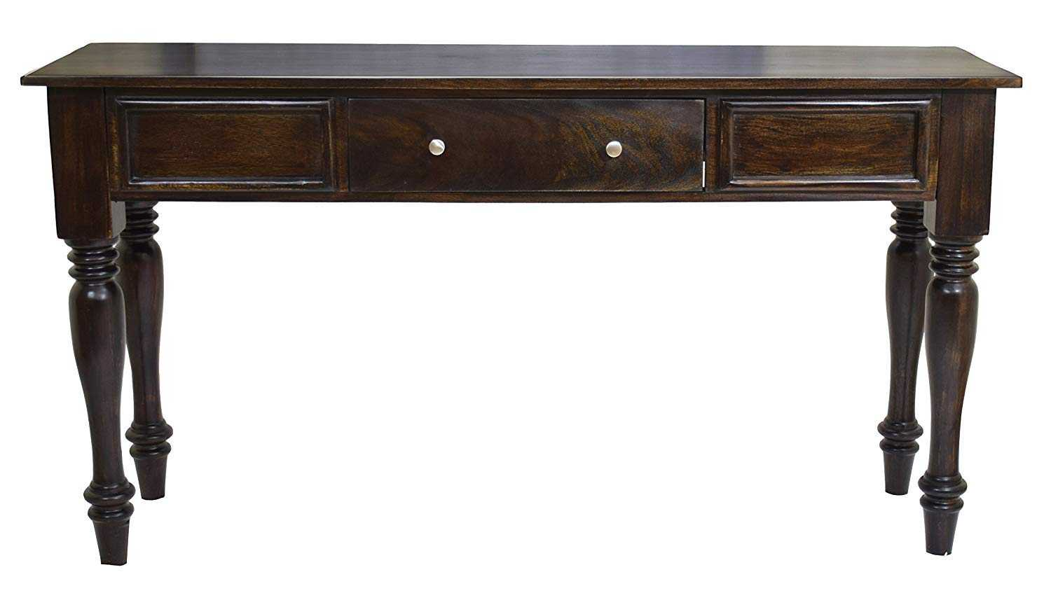 Rinbi Console Hall Writing Table Dark Walnut Finish Console Table for Home