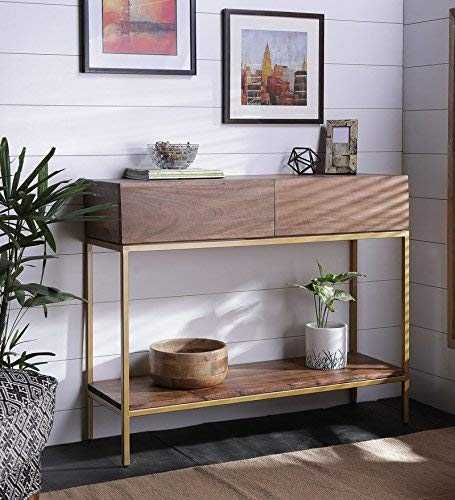 Zilbi console table bedroom, console table decoration, console tables for living room, Console Table in Golden Finish