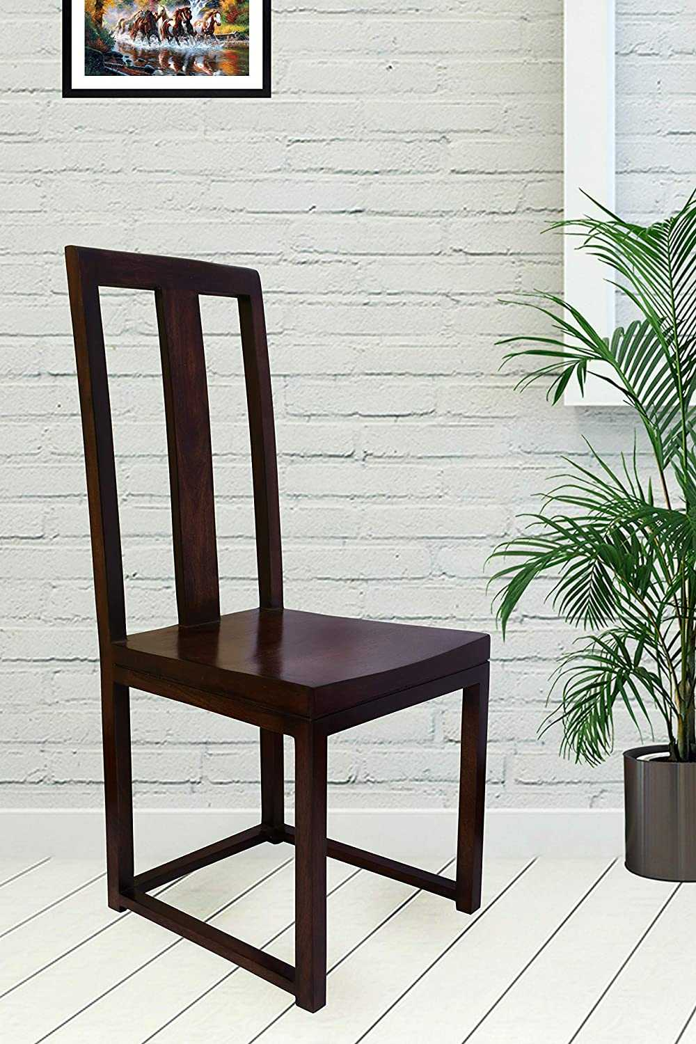 Ijeko  Mango Wood Dining Chairs for Home (dark brown)