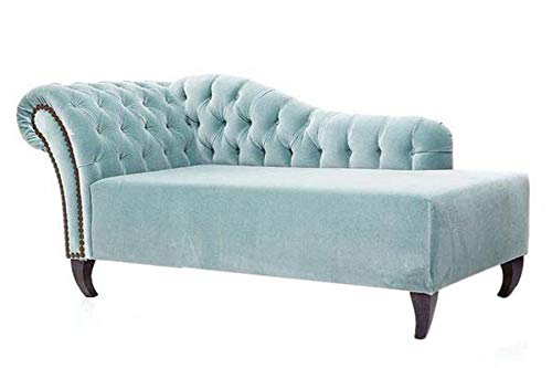 Sokima Wooden and Fabric 3 Seater Lounger Sofa Diwan Couch for Living Room Home (Teal Blue)