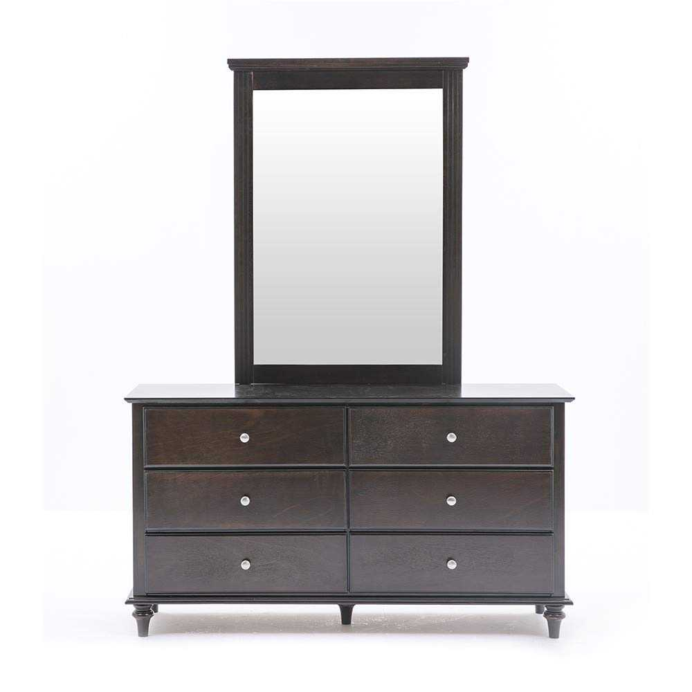 Volnam Dressing Table with Mirror for Bed Room(Walnut)